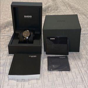 Rado diastar ceramic matte black watch